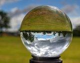 Glazen bol voor de fotografie 12cm + glazen voetje_
