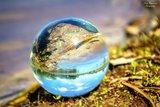 Glazen bol voor de fotografie 5cm + glazen voetje_